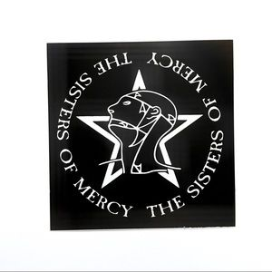 Sisters Of Mercy Screen Printed Black Canvas Patch
